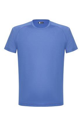 Мужская шерстяная футболка Z ZEGNA синего цвета, арт. VS390/ZZT653 | Фото 1