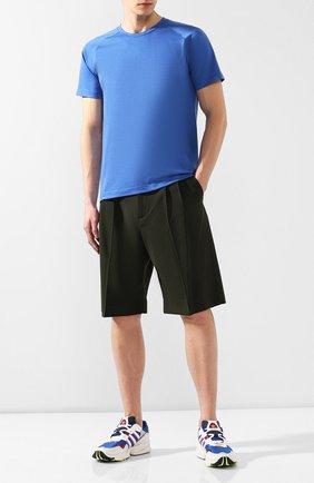 Мужская шерстяная футболка Z ZEGNA синего цвета, арт. VS390/ZZT653   Фото 2