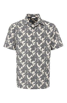 Мужская рубашка из смеси хлопка и льна BRIONI серого цвета, арт. SCAT0L/P8127 | Фото 1