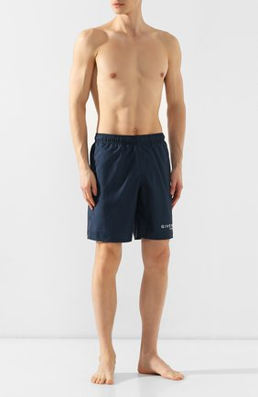 Мужские плавки-шорты GIVENCHY синего цвета, арт. BMA0051Y5N | Фото 2