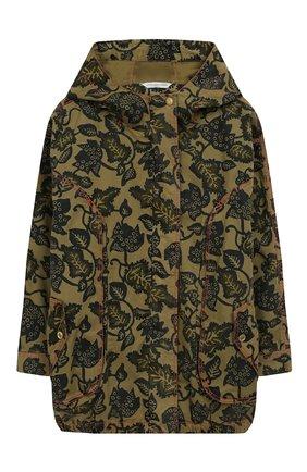 Детская хлопковая куртка MARC JACOBS (THE) хаки цвета, арт. W16100/6A-12A | Фото 1