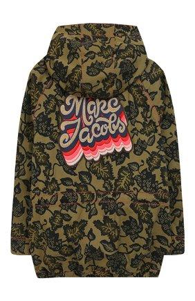 Детская хлопковая куртка MARC JACOBS (THE) хаки цвета, арт. W16100/6A-12A | Фото 2