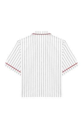 Детская хлопковая рубашка DOLCE & GABBANA белого цвета, арт. L42S90/FB5M0/8-14 | Фото 2