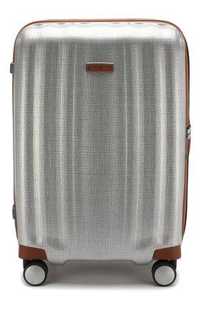 Женский дорожный чемодан lite cube medium SAMSONITE серебряного цвета, арт. 82V-08003   Фото 1