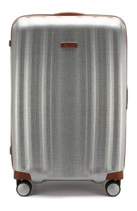 Женский дорожный чемодан lite cube large SAMSONITE серебряного цвета, арт. 82V-08004   Фото 1