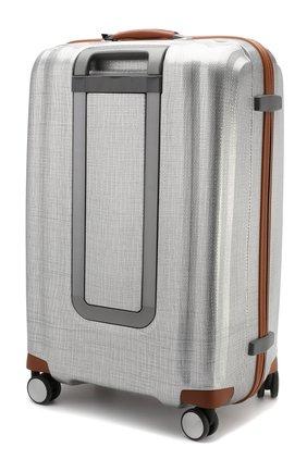 Женский дорожный чемодан lite cube large SAMSONITE серебряного цвета, арт. 82V-08004   Фото 2