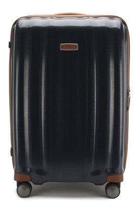 Женский дорожный чемодан lite cube large SAMSONITE синего цвета, арт. 82V-01004   Фото 1
