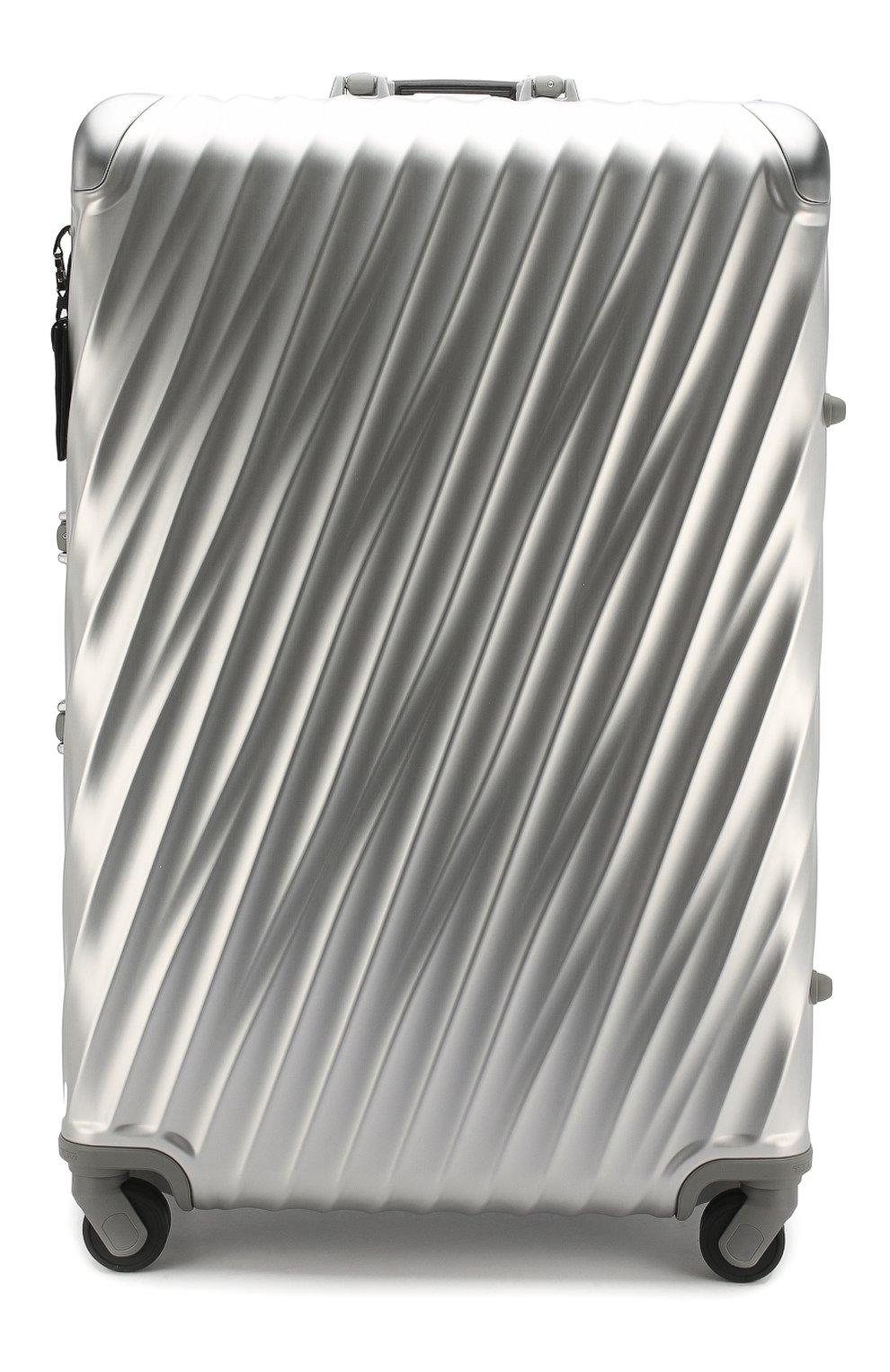 Женский дорожный чемодан 19 degree aluminum TUMI серебряного цвета, арт. 036869SLV2   Фото 1 (Статус проверки: Проверено, Проверена категория; Размер: large; Ограничения доставки: oversized)