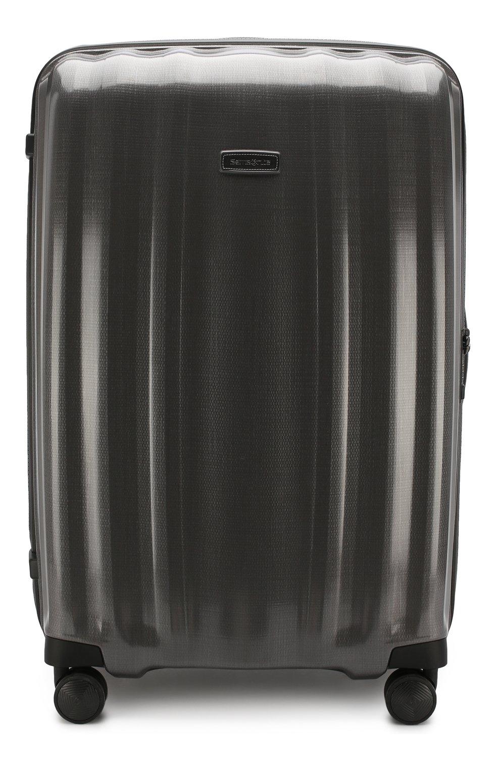 Женский дорожный чемодан lite cube extra large SAMSONITE серого цвета, арт. 82V-28005 | Фото 1 (Статус проверки: Проверено, Проверена категория; Ограничения доставки: oversized; Размер: large)