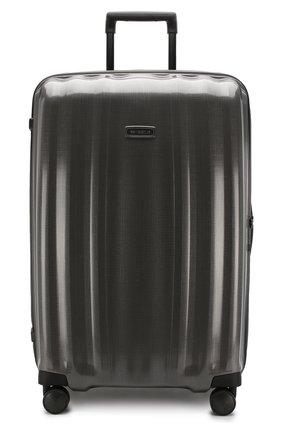 Женский дорожный чемодан lite cube extra large SAMSONITE серого цвета, арт. 82V-28005 | Фото 4 (Статус проверки: Проверено, Проверена категория; Ограничения доставки: oversized; Размер: large)