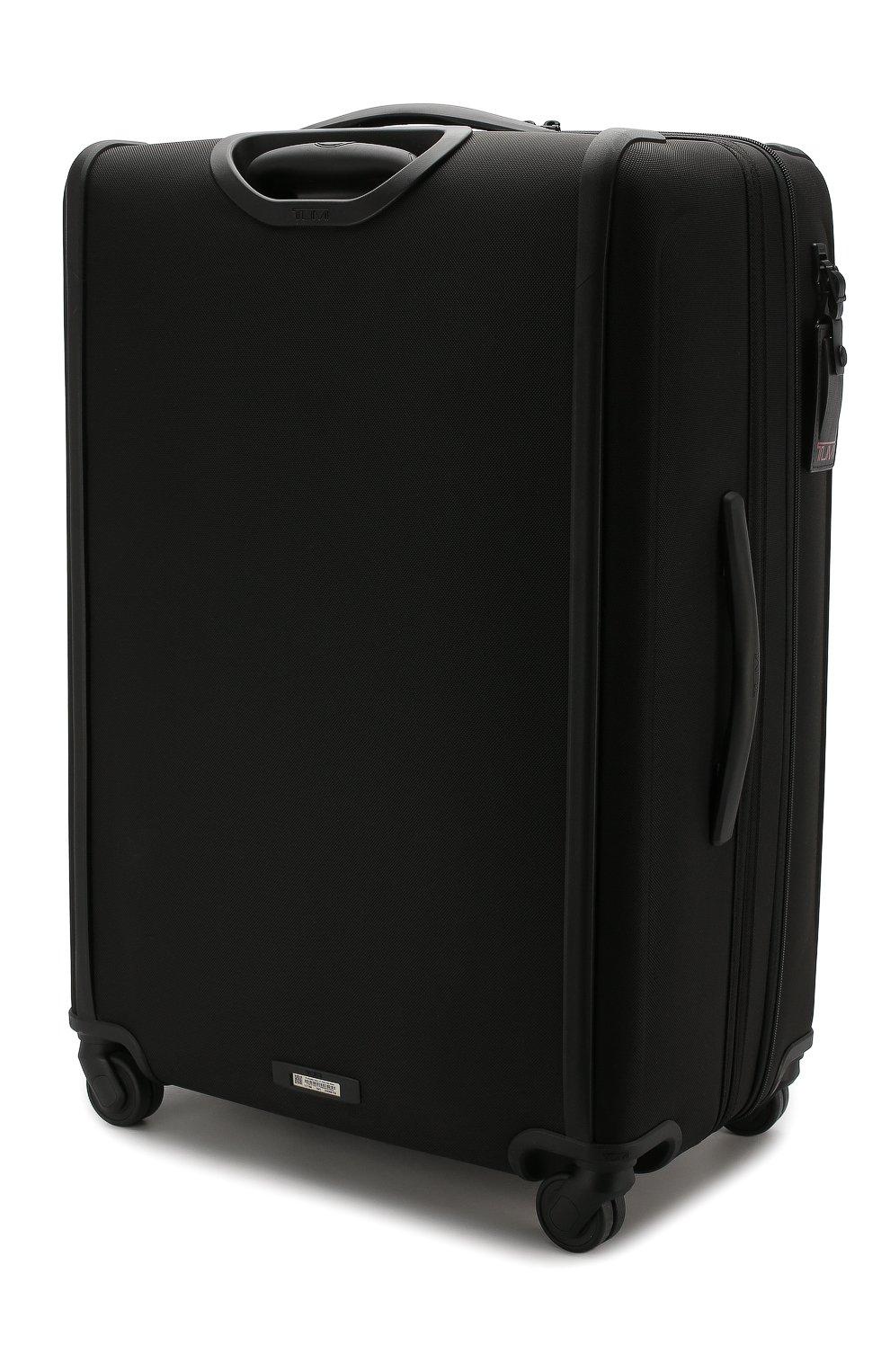 Женский дорожный чемодан alpha 3 TUMI черного цвета, арт. 02203067D3 | Фото 2 (Статус проверки: Проверено, Проверена категория; Ограничения доставки: oversized; Размер: large)