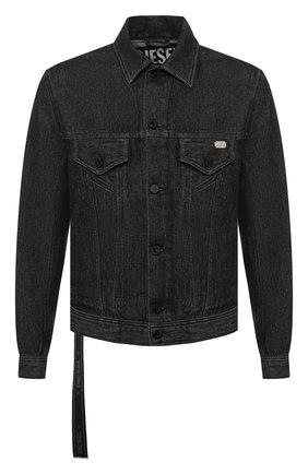 Джинсовая куртка Diesel черная   Фото №1
