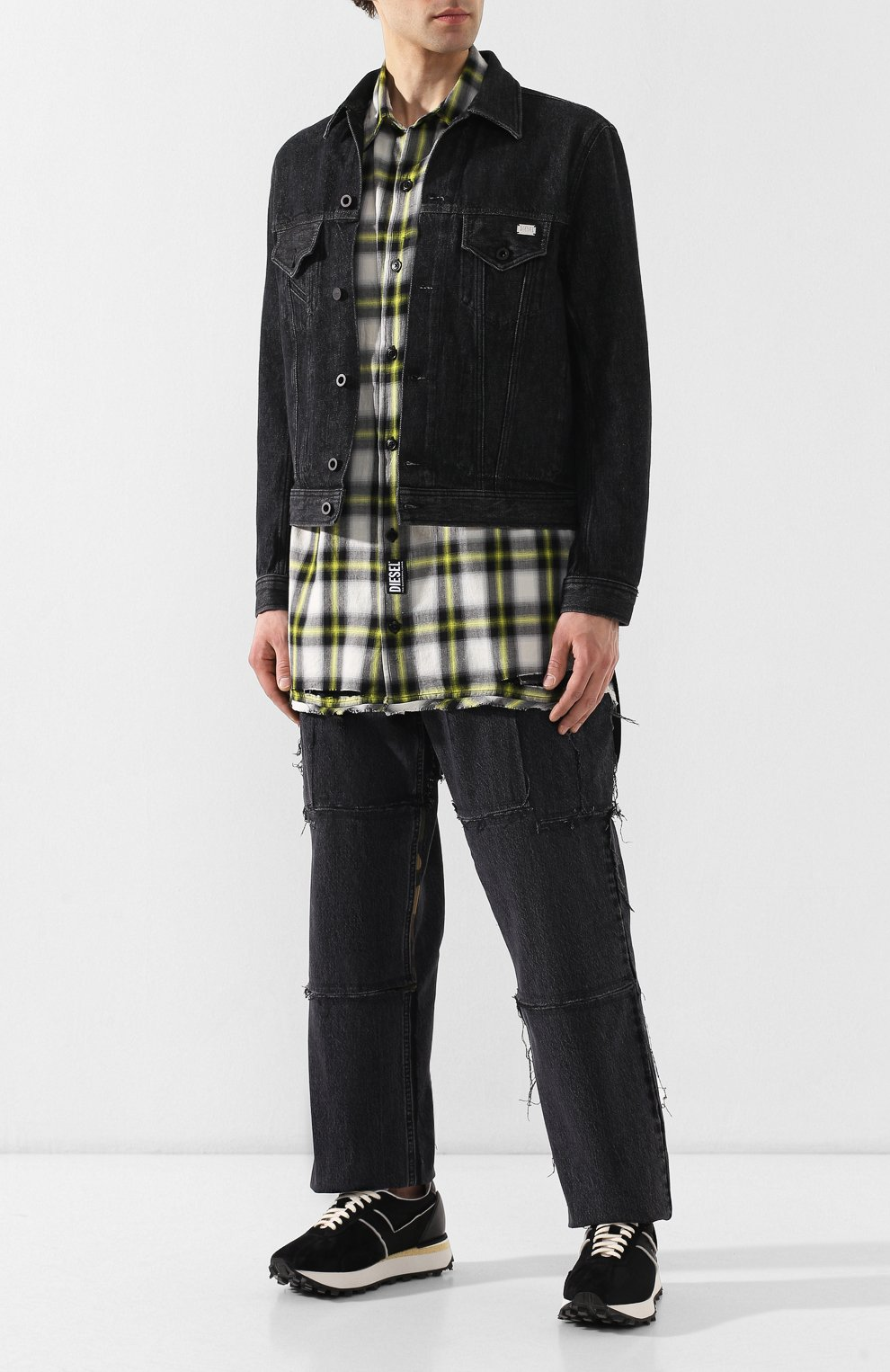 Джинсовая куртка Diesel черная   Фото №2