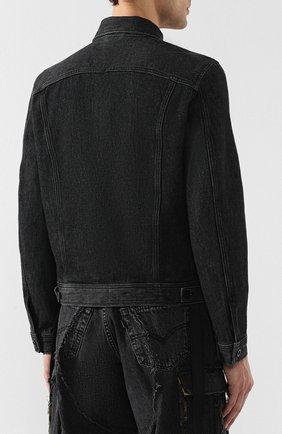 Джинсовая куртка Diesel черная   Фото №4