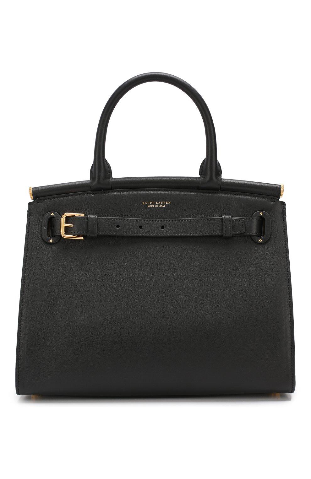 Женская сумка rl50 medium RALPH LAUREN черного цвета, арт. 435769047   Фото 1