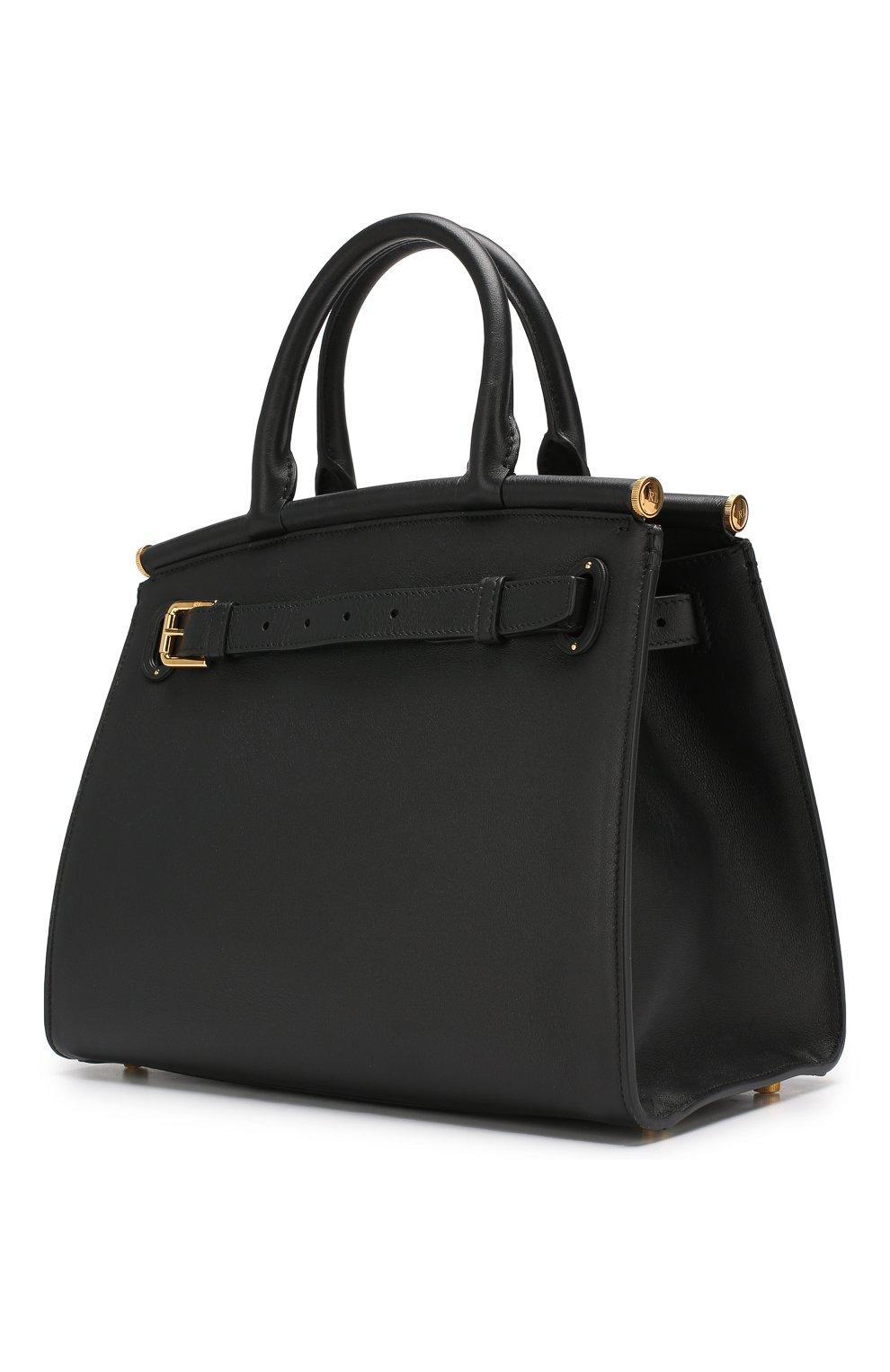 Женская сумка rl50 medium RALPH LAUREN черного цвета, арт. 435769047   Фото 3