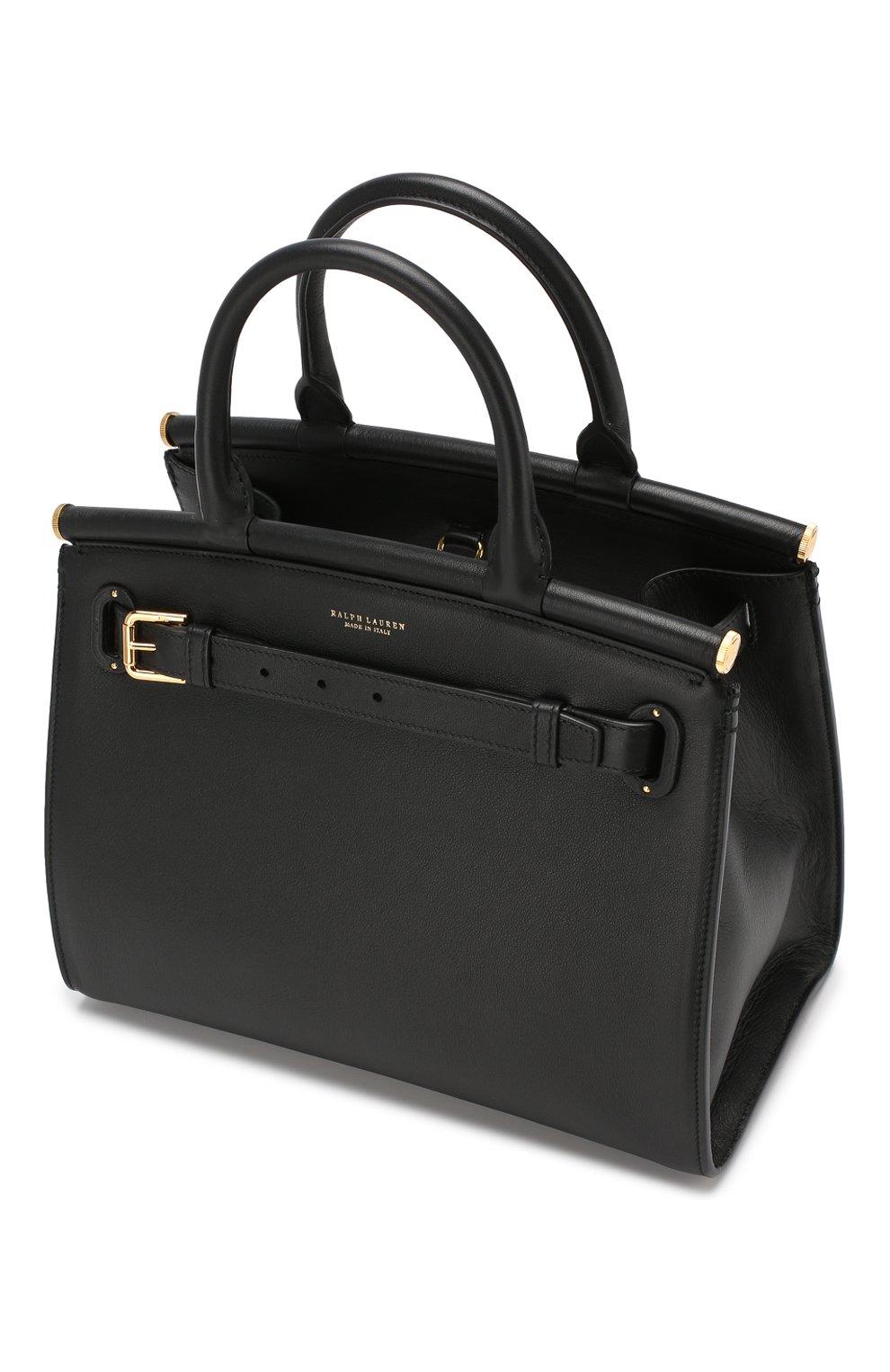 Женская сумка rl50 medium RALPH LAUREN черного цвета, арт. 435769047   Фото 4