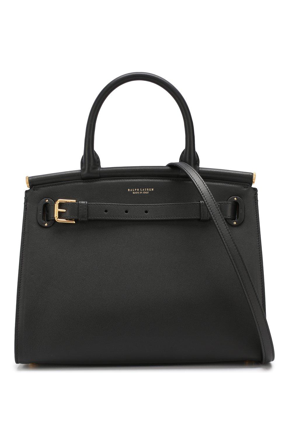 Женская сумка rl50 medium RALPH LAUREN черного цвета, арт. 435769047   Фото 6