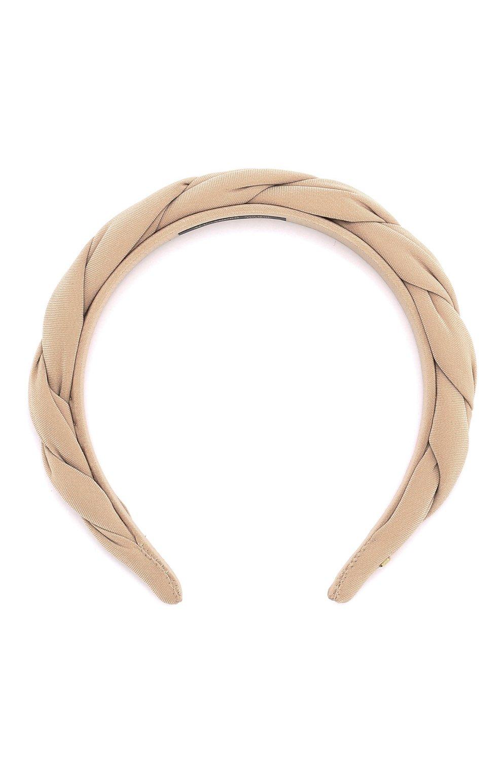 Женские ободок для волос ALEXANDRE DE PARIS бежевого цвета, арт. THB-20150-25 S | Фото 1