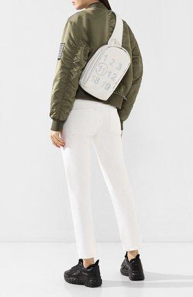 Женский текстильный рюкзак MAISON MARGIELA белого цвета, арт. S56WA0013/PS064 | Фото 2