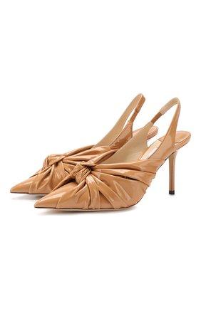 Женская кожаные туфли annabel 85 JIMMY CHOO коричневого цвета, арт. ANNABELL 85/S0P | Фото 1