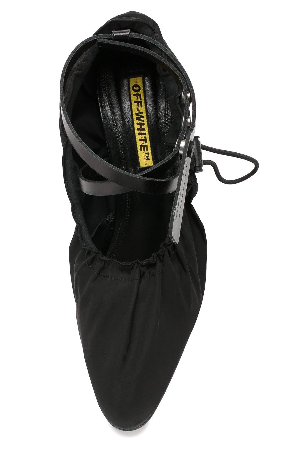 Текстильные туфли  Off-White черные | Фото №5