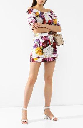 Женские хлопковые шорты DOLCE & GABBANA белого цвета, арт. FTASXT/GDL71 | Фото 2