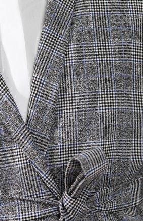 Женский льняной жакет KITON серого цвета, арт. D47522K09R06 | Фото 5