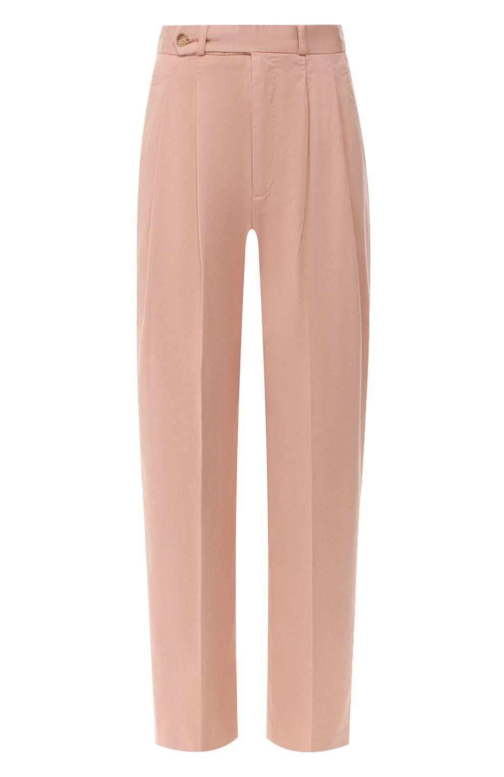 Женские хлопковые брюки POLO RALPH LAUREN розового цвета, арт. 211744940   Фото 1