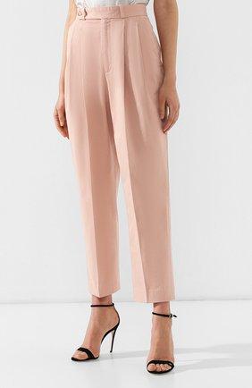 Женские хлопковые брюки POLO RALPH LAUREN розового цвета, арт. 211744940   Фото 3