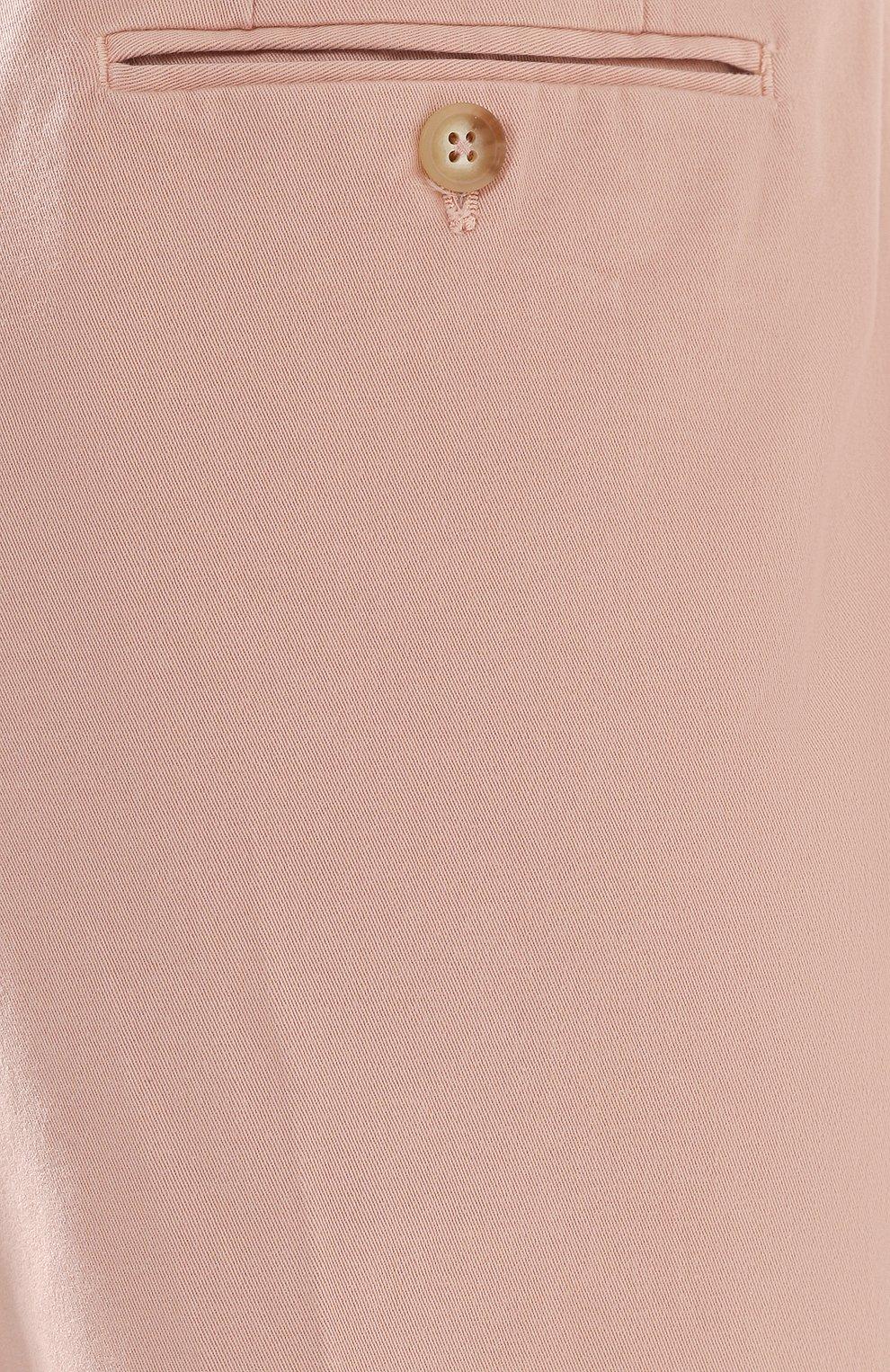Женские хлопковые брюки POLO RALPH LAUREN розового цвета, арт. 211744940   Фото 5