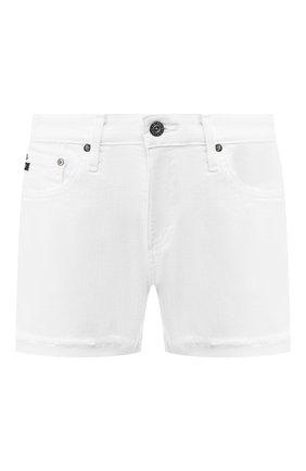 Женские джинсовые шорты AG белого цвета, арт. 0SD1489SF/WHT | Фото 1