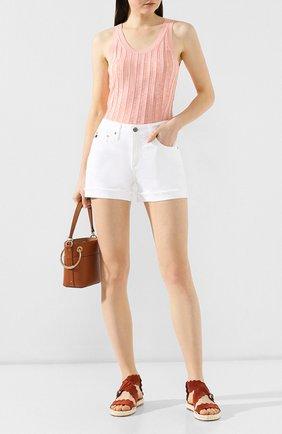 Женские джинсовые шорты AG белого цвета, арт. 0SD1489SF/WHT | Фото 2
