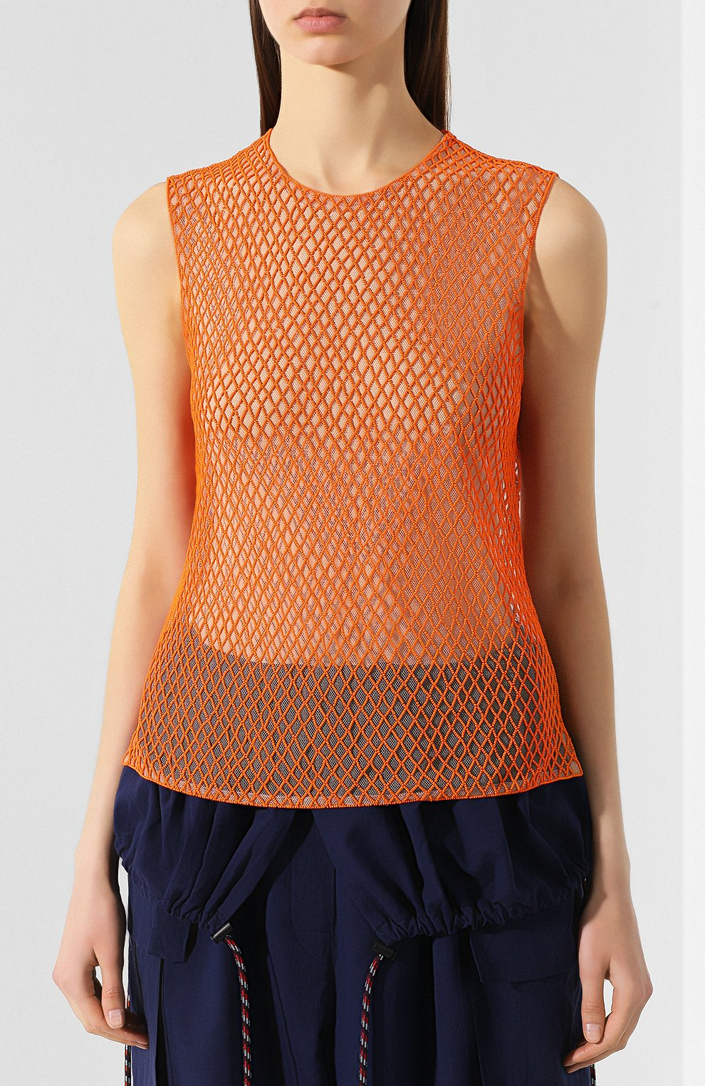 Топ Dries Van Noten оранжевый   Фото №3