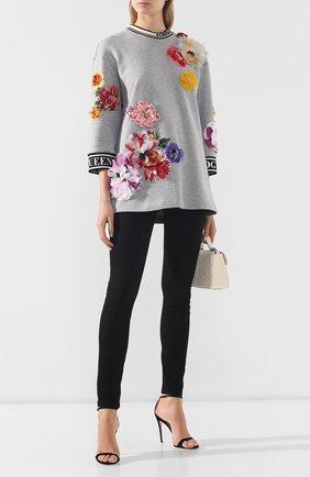 Женский хлопковый пуловер DOLCE & GABBANA светло-серого цвета, арт. F9E14Z/FU7DU | Фото 2