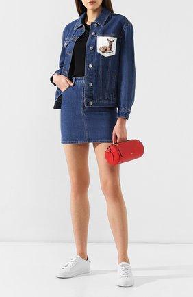 Женская джинсовая куртка BURBERRY голубого цвета, арт. 8010710 | Фото 2
