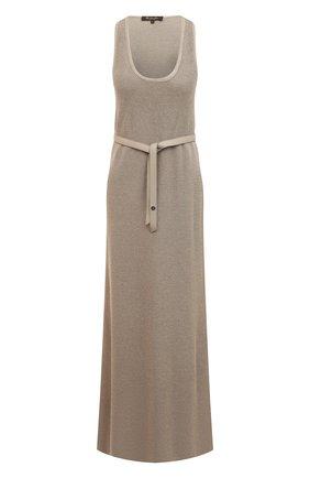 Женское платье с поясом LORO PIANA бежевого цвета, арт. FAI5305 | Фото 1