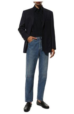 Мужские кожаные мокасины MORESCHI черного цвета, арт. 90041969 | Фото 2