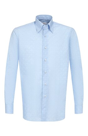 Мужская хлопковая сорочка ZILLI голубого цвета, арт. MFR-MERCU-84002/RZ01 | Фото 1