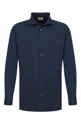 Мужская хлопковая сорочка LUIGI BORRELLI темно-синего цвета, арт. EV08/LUCIAN0/TS10715 | Фото 1
