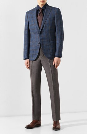 Мужская хлопковая сорочка LUIGI BORRELLI темно-синего цвета, арт. EV08/LUCIAN0/TS10715 | Фото 2