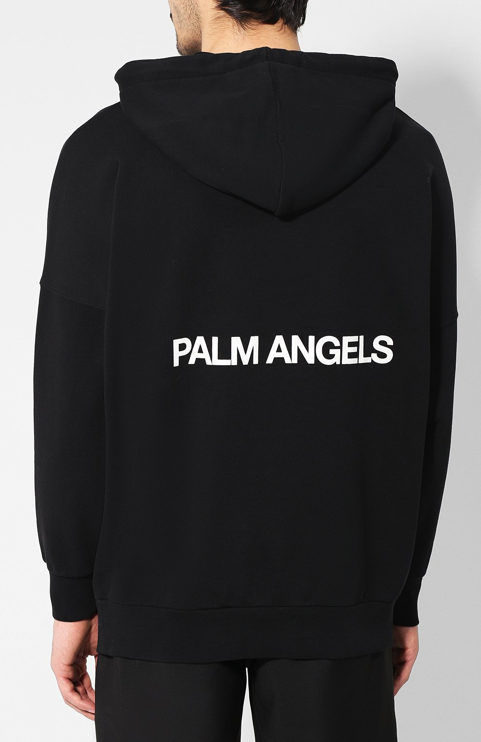 Хлопковое худи Palm Angels черный | Фото №4