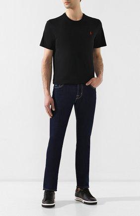 Мужская хлопковая футболка POLO RALPH LAUREN черного цвета, арт. 710680785 | Фото 2