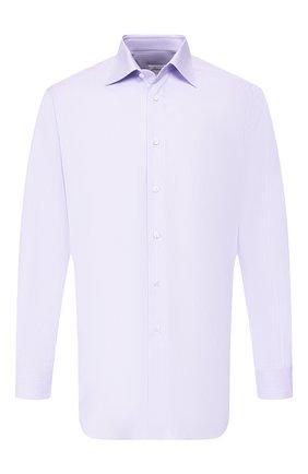Мужская хлопковая рубашка BRIONI сиреневого цвета, арт. RCLU1X/P807N | Фото 1