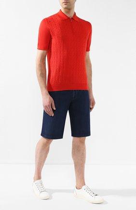 Мужские хлопковые шорты ZILLI темно-синего цвета, арт. MCR-00251-DEUL1/R001 | Фото 2