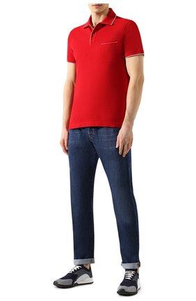 Мужское хлопковое поло LORO PIANA красного цвета, арт. FAI0485 | Фото 2