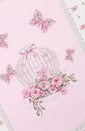 Детского хлопковое одеяло MONNALISA розового цвета, арт. 353006   Фото 2