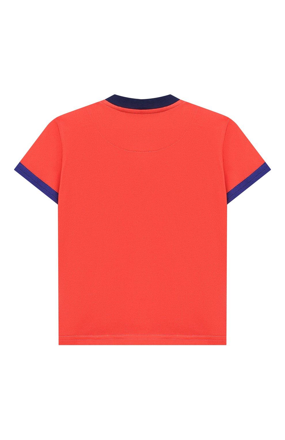 Детский хлопковая футболка DOLCE & GABBANA красного цвета, арт. L1JT8E/G7SEZ | Фото 2 (Рукава: Короткие; Материал внешний: Хлопок; Статус проверки: Проверено)