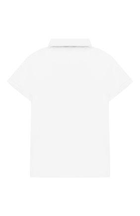 Детский хлопковое поло IL GUFO белого цвета, арт. P19PC068M0014/3M-9M | Фото 2