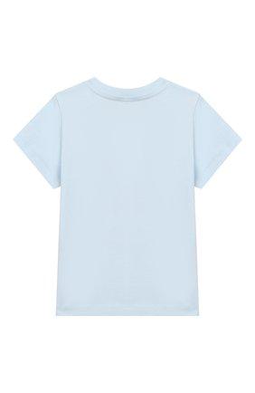Детский хлопковая футболка KENZO светло-голубого цвета, арт. KN10638-BB/6M-18M | Фото 2